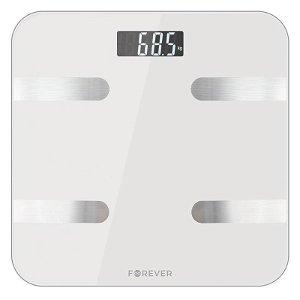 Forever AS-100 Smart Scale - Bluetooth Kroppsanalyse Badevekt - Hvit