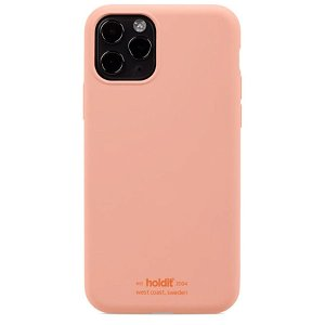 Holdit iPhone 11 Pro Soft Touch Silikon Deksel - Pink Peach