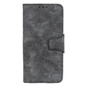 OnePlus Nord CE (5G) Retro Kunstskinn Flip Deksel m. Lommebok - Grå
