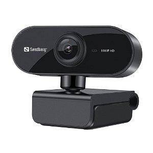 Sandberg 1080p 30fps USB Webcam Flex m. Mikrofon - Svart