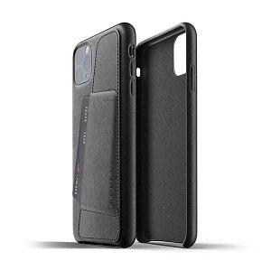 Mujjo iPhone 11 Pro Max Leather Wallet Case Svart