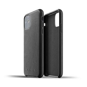 Mujjo iPhone 11 Leather Case Svart