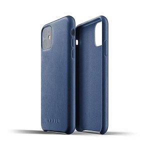 Mujjo iPhone 11 Pro Max Leather Case Blå
