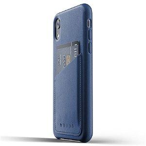 Mujjo iPhone XR Leather Wallet Case / Ekte Skinn - Blå