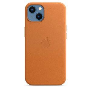 Original Apple iPhone 13 Skinn MagSafe Deksel Gyllenbrun (MM103ZM/A)