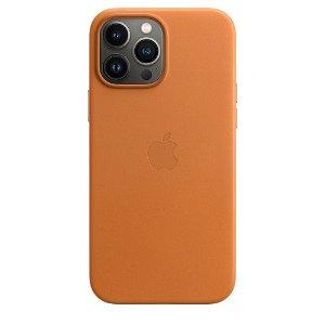 Original Apple iPhone 13 Pro Max Skinn MagSafe Deksel Gyllenbrun (MM1L3ZM/A)