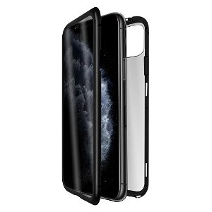 QDOS iPhone 11 OptiGuard Infinity Glass Mobildeksel m. Privacy - Svart