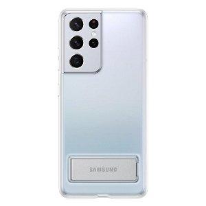 Original Samsung Galaxy S21 Ultra Clear Standing Deksel - Gjennomsiktig (EF-QG998CTEGWW)